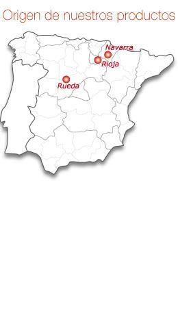 mapa del origen de nuestros productos